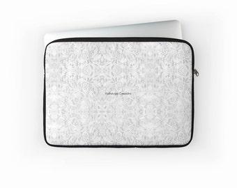 White Lace Laptop Sleeve! Multiple Sizes Available!