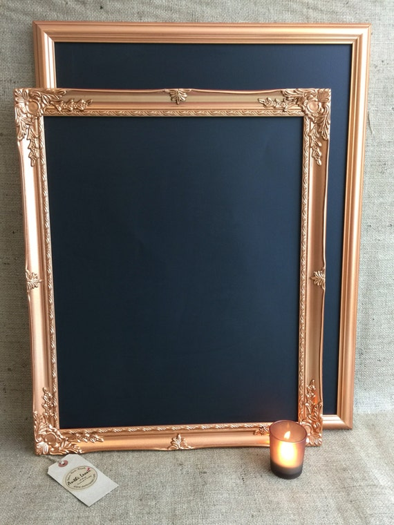 Large COPPER / ROSE GOLD Chalk Board - Copper Blackboard / Framed Chalk Board / Copper Message Board / Copper Home and Office Decor