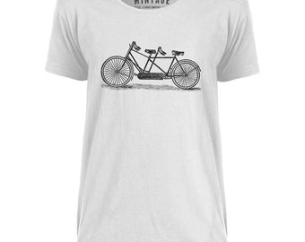 Mintage Old Two Seater Bike  Mens Scoop Neck T-Shirt