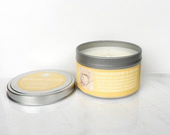 Frankincense & Myrrh Scented Soy Candle - Christmas Candle - Holiday soy candle - Essential Oil Candle - religious soy candle