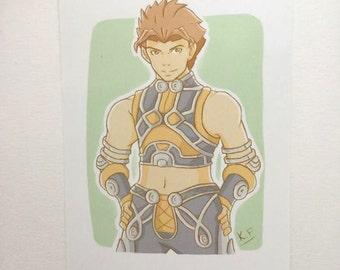 Reyn - Xenoblade Chronicles Art Print - A6