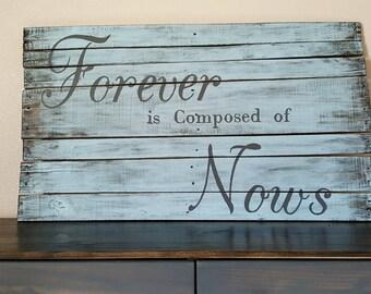 Rustic Reclaimed Wood Sign - Custom Rustic Home Decor - Reclaimed Wood Wall Art
