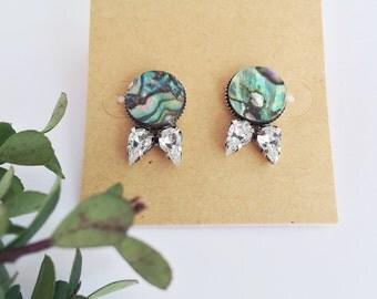 Mermaid Inspired Stud Earrings