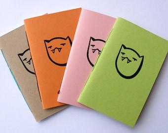 Vampire Cat Mini Saddle Stitch Notebooks