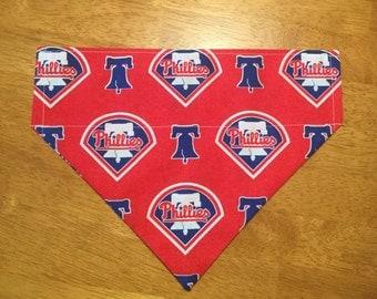 Philadelphia Phillies over the collar pet bandana