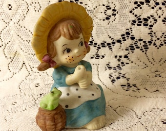 Country farm girl figurine