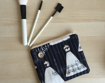 Lovingly handmade fabric make up bag