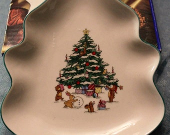 Vintage~~~ Whimsical Christmas~~Christmas Tree Dish ~~ By Salem China Company