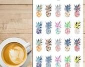 Ananas coloré Planner Stickers | L'été tropical | Stickers ananas | Autocollants pour l'été | Stickers tropicales (S-137)