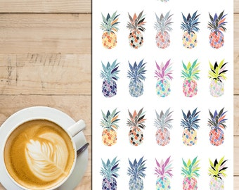 Colourful Pineapples Planner Stickers | Tropical Summer | Pineapples Stickers | Summer Stickers | Tropical Stickers (S-137)