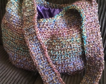 Crochet Hobo Handbag, Purse