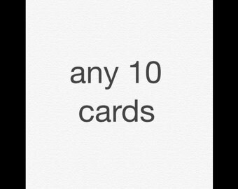 Any 10 note cards
