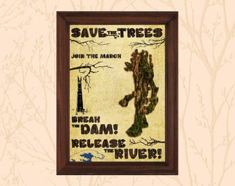 Lord of the Rings Art Print - Treebeard: Save the Trees - Fangorn Forest, Isengard