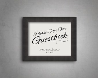 sign our guestbook etsy. Black Bedroom Furniture Sets. Home Design Ideas