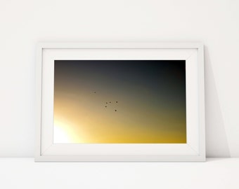 Yellow Sky Fine Art Print, Landscape Photography Wall Art