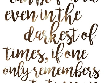 Albus Dumbledore Quote {Digital Print}