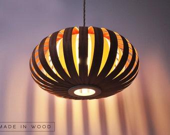 SALE! Ceiling light, Pendant lamp, Mahogany, Baltic Birch Wood Veneer Lampshade Lighting Patio Light Hanging Light. Also can buy floor lamp