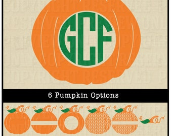 Vinyl mongorams etsy for Monogram pumpkin templates