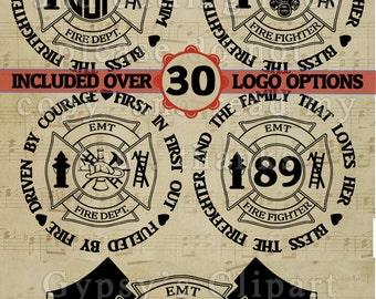 Firefighter Logo, EMT Firefighter Graphic, Apparel design, Quote,Cutting File, T-Shirt design, Vinyl, SVG, Monogram,Vector, Decal design,