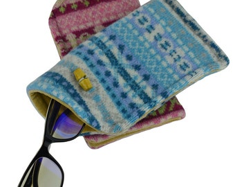 Knitted Fairisle Glasses Spectacle Case