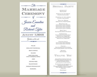 Rustic heart arrow wedding program folded template Booklet