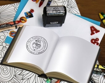 From The Library of Stamp, Teacher stamps, Self Inking Stamp, Gifts for teachers, Teacher Appreciation Gifts, --SI-400RC-PENELOPE