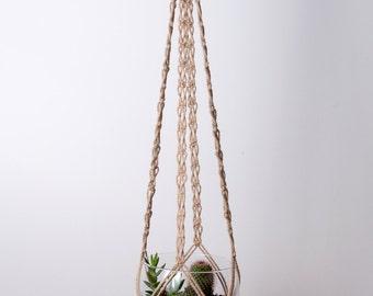 Macramé plant hanger XL  in jute or cotton