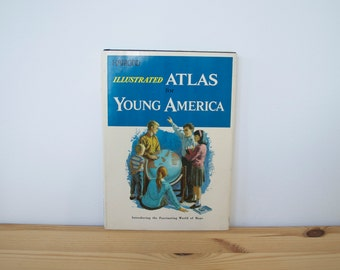 Vintage Illustrated Atlas for Young America (1967)