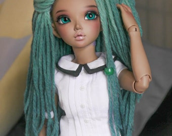 7/8 Dreadlock Wig Seafoam Green