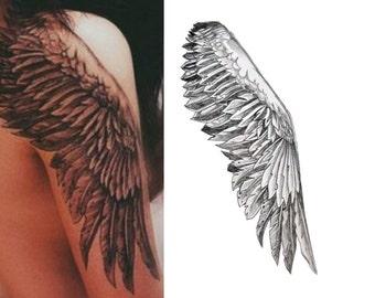 Wings Large Temporary Tattoo Halloween Costume