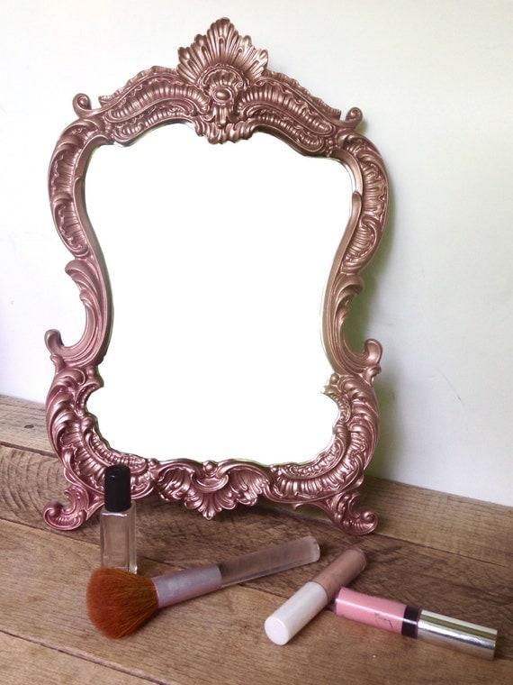 Ornate bathroom vanity - Rose Gold Vanity Mirror Makeup Mirror By Shineboxprimitives