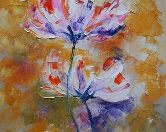 """Painting """"  white flowers """""""