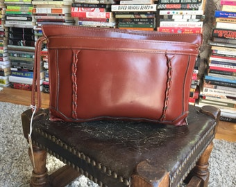 vintage brown clutch