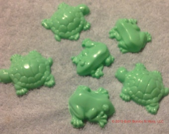 Turtles and Frogs Shaped soaps