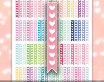 Heart Checklist MAMBI Planner Stickers // Printable Stickers For Happy Planners // Instant Digital Download PDF & JPG