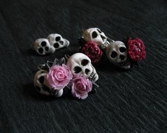 Pastel goth earrings Halloween jewelry Halloween earrings Halloween costume Bone jewelry Scull jewelry Vampire earring Skeleton jewelry