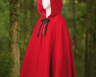 18th Century Colonial Style Women's Wool Cloak - Custom Made