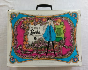 Vintage World of Barbie Double Doll Case