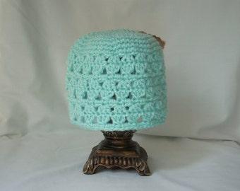 Toddler Girl's Spring Hat, Light Blue Boy Hat, Toddler Crochet Hat, Lacy Spring Toddler Hat, Girl's Crochet Hat, Lacy Girl's Hat