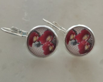 Delicate earrings COQUELICOT 12mm