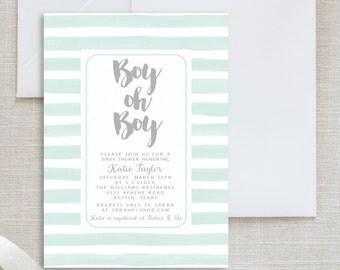Boy Baby Shower Invitation / Boy Baby Shower Invite / Invitation Baby Shower / Printable Invitation / BOY OH BOY Baby Shower Invitation
