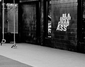 """Be a Badass with a Good Ass - gym inspiration wall decal crossfit success - 7"""", 9"""" and 13"""""""