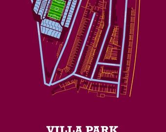 Aston Villa FC - Villa Park Art Print.