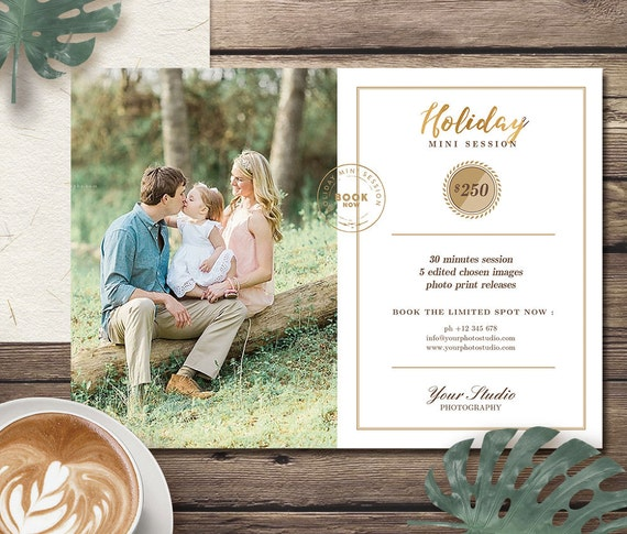 Holiday Mini Session Template for Photographer, Christmas Mini Session Marketing Templates, Photography Family Mini Session Flyer - MS011