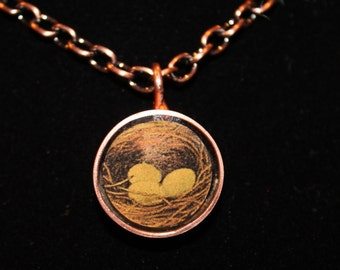 Eggs in a Nest Resin Necklace