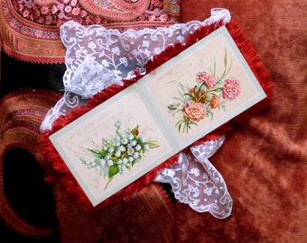 Antique Victorian Christmas card 1880s