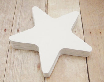 Cardstock Star Cutouts-Starfish Shapes-White Star Cutouts-Scrapbooking Cutouts-Star Embellishments- Paper Cutouts-Party Decor-White Stars