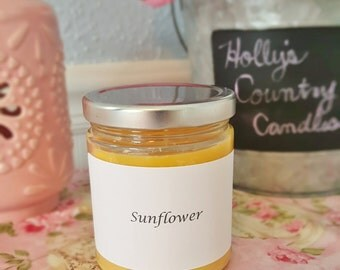 Hand-Poured Sunflower Scented 9 oz. Soy Container Candle ***Clearance