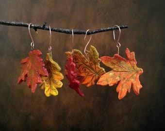 Set of 5 Fall Leaves