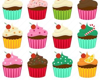 Cupcake Clipart / Cup Cake Clipart / Cupcakes Clipart / Cute Cupcake Clip Art